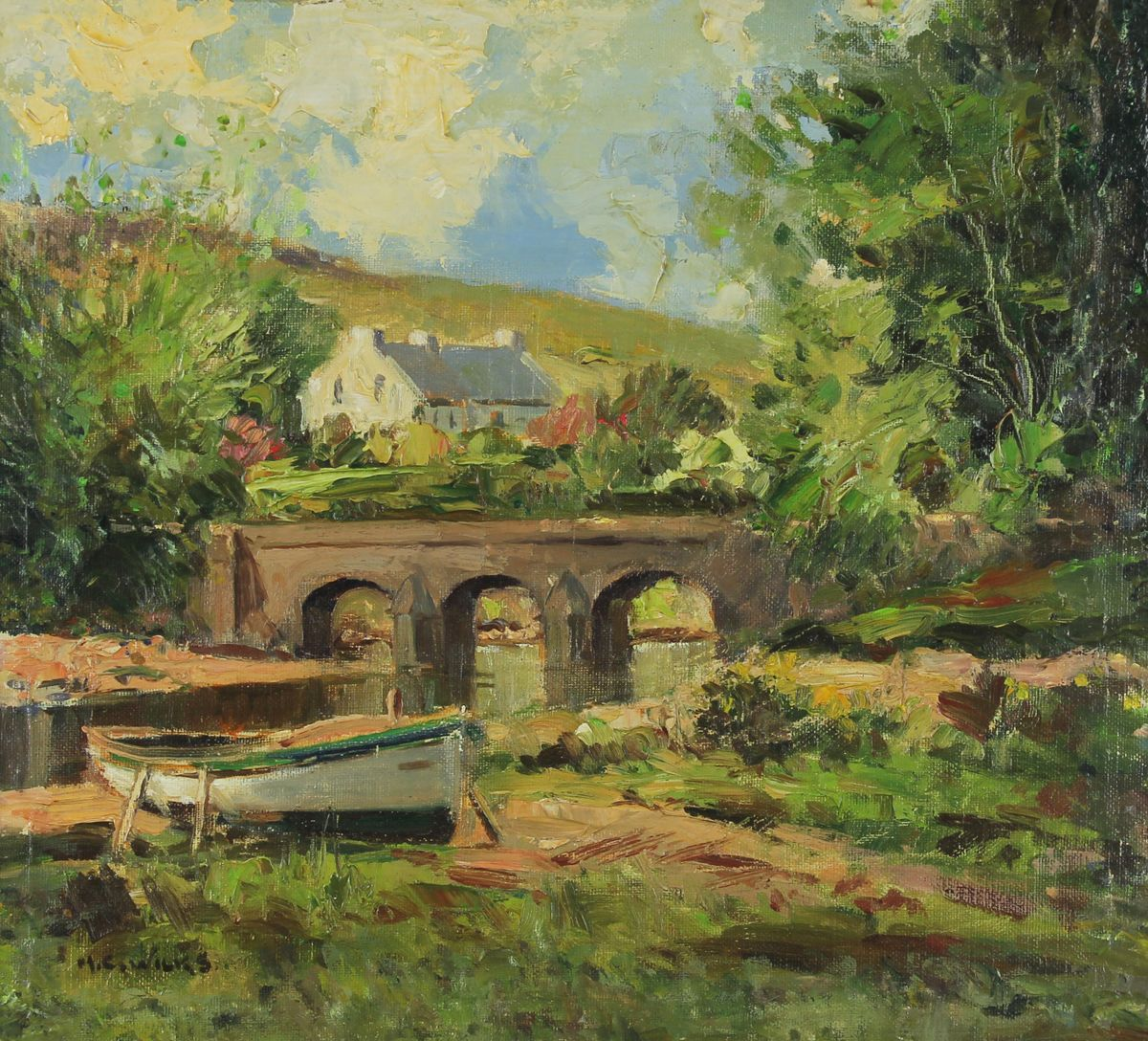 The Bridge, Cushendun by Maurice C Wilks