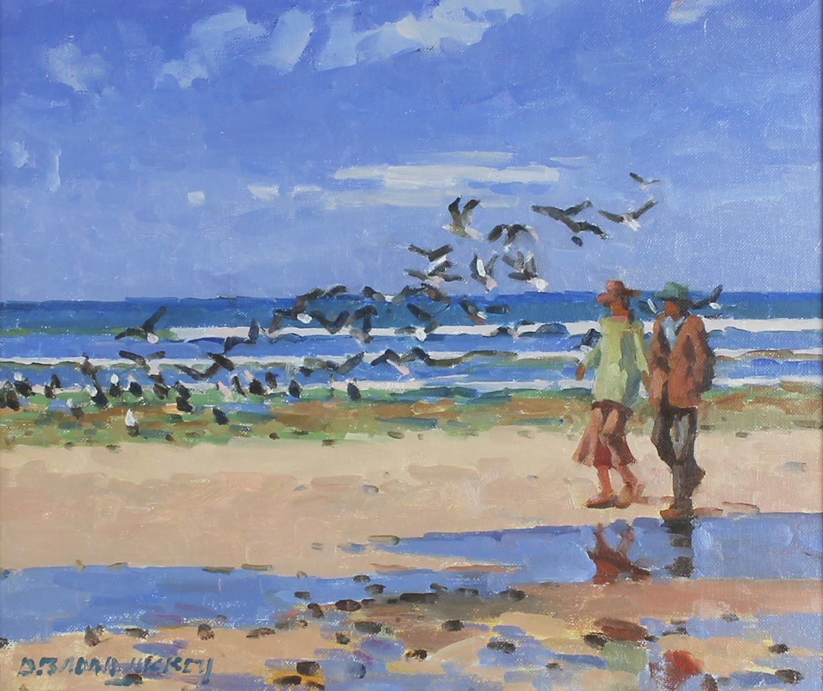Seabirds Rising, Laytown by Desmond Hickey
