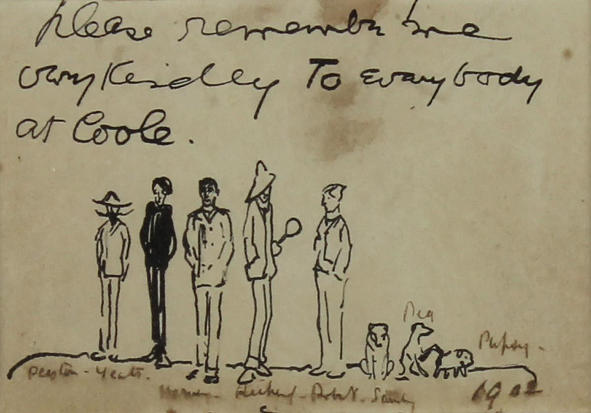 Pen and Ink Sketch - Jack B Yeats