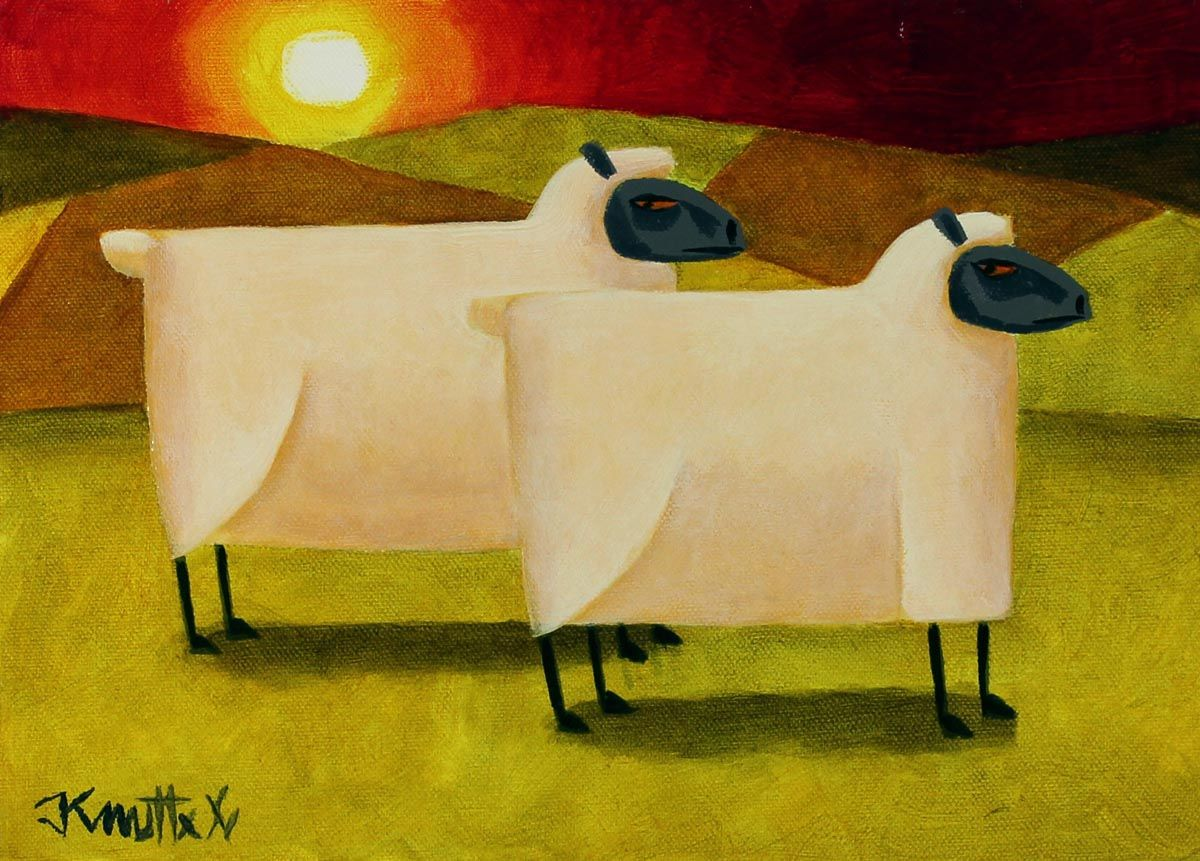 Sunset Sheep - Graham Knuttel
