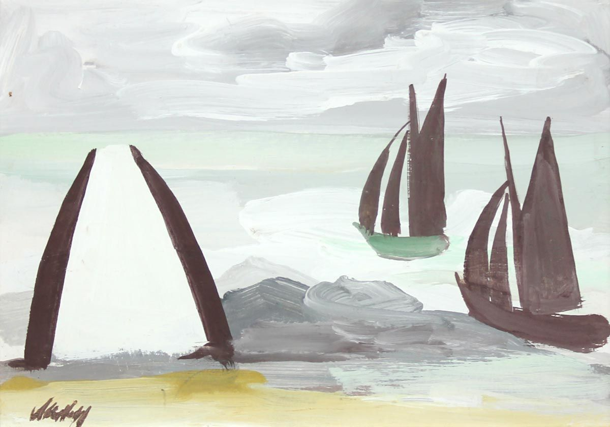White Gable and Boats - Markey Robinson