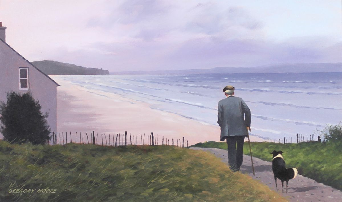 A Morning Stroll on the Antrim Coast - Gregory Moore