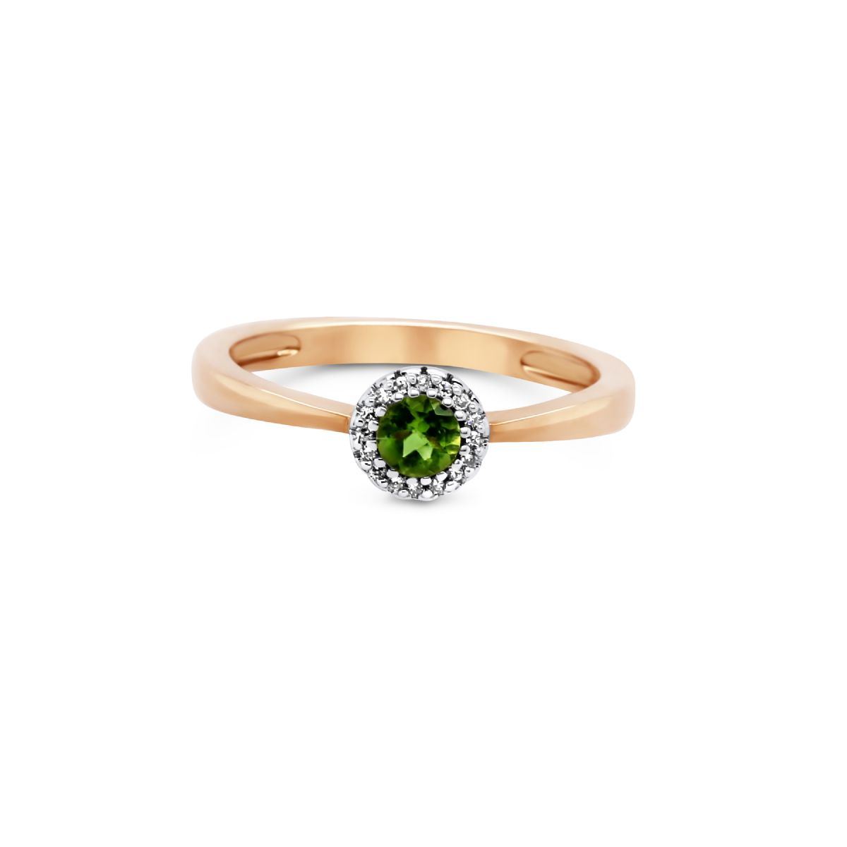 9k gold, diamond and peridot ring -  Ring