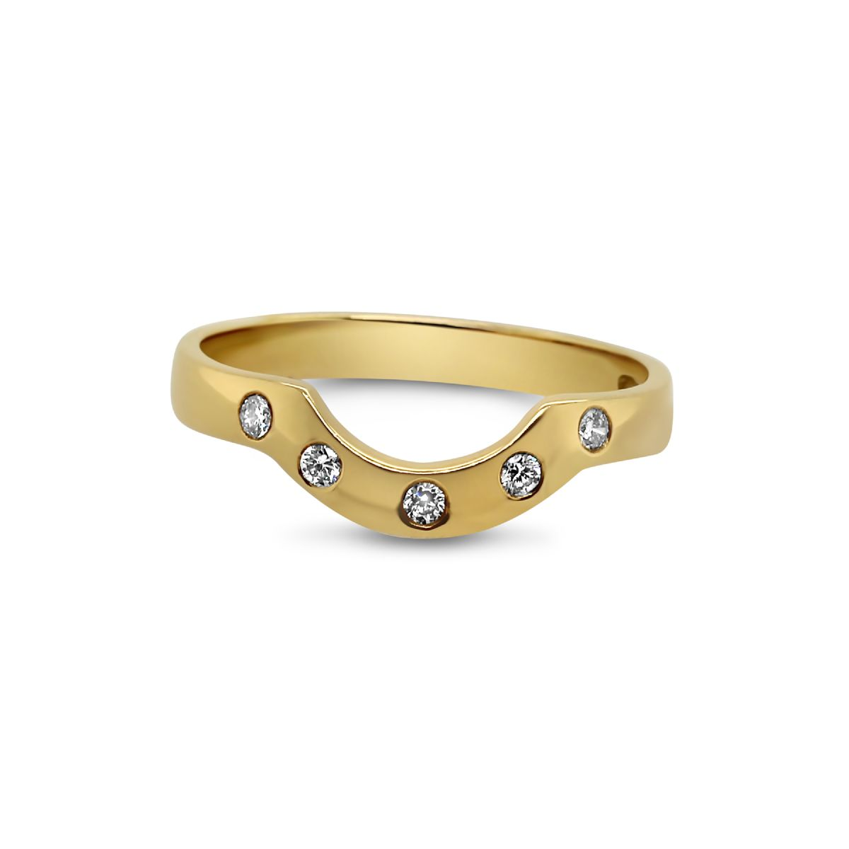 18k gold and diamond horseshoe ring -  Ring